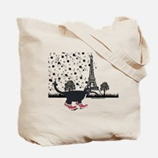 Tuxedo cat in Paris Tote Bag