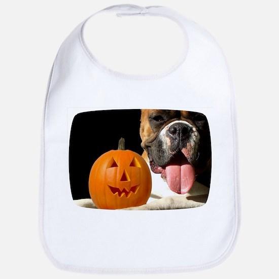 Halloween Boxer Dog Bib