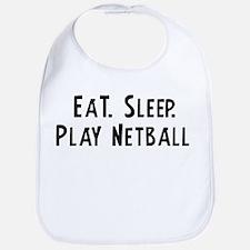 Eat, Sleep, Play Netball Bib
