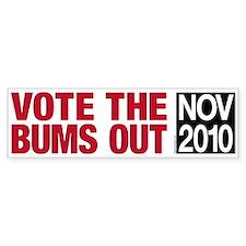 Vote the Bums Out Bumper Bumper Sticker