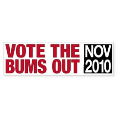 Vote the Bums Out Bumper Sticker (10 pk)