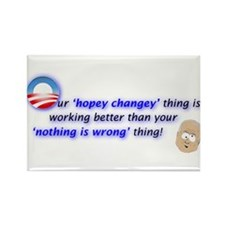 Cute Obama hope Rectangle Magnet