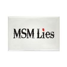 Main Stream Media Lies Rectangle Magnet (100 pack)