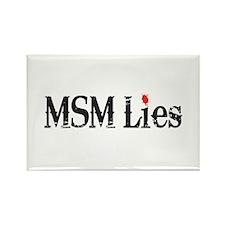 Main Stream Media Lies Rectangle Magnet