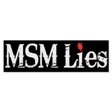 Main Stream Media Lies Bumper Sticker