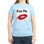 Kiss Me Women's Pink T-Shirt