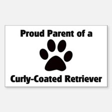 Curly-Coated Retriever Rectangle Decal