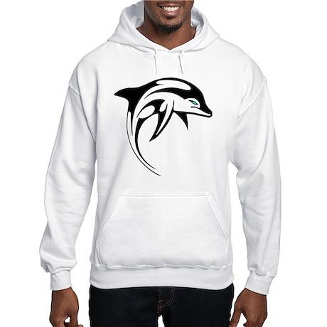Tribal Dolphin Tattoo Hooded Sweatshirt