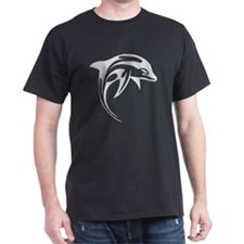 Tribal Dolphin Tattoo T-Shirt