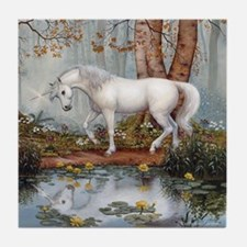 UNICORN REFLECTION Tile Coaster