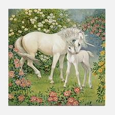 Unicorn Mare and Foal Tile Coaster