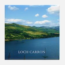 Loch Carron Scotland Tile Coaster