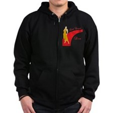 Red Carpet Diva Zip Hoodie