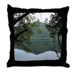 Scottish Reflections Throw Pillow