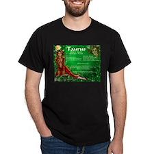 Goddess Taurus Black T-Shirt