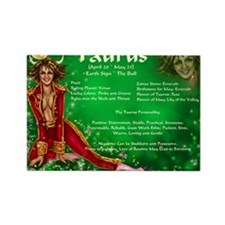 Goddess Taurus Rectangle Magnet
