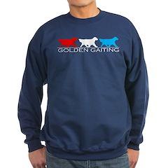 Golden Retriever Golden Gait RWB Sweatshirt (dark)