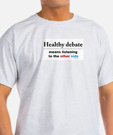 """Healthy Debate"" t-shirt"