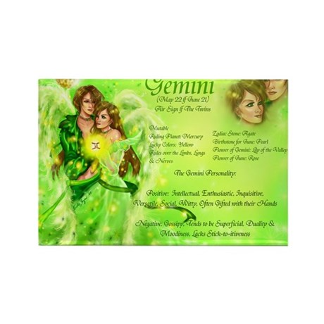 Goddess Gemini Rectangle Magnet