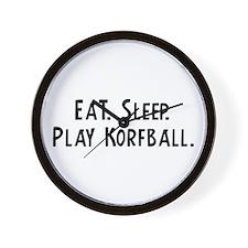 Eat, Sleep, Play Korfball Wall Clock