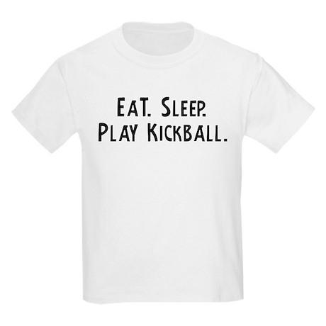 Eat, Sleep, Play Kickball Kids T-Shirt