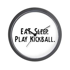 Eat, Sleep, Play Kickball Wall Clock