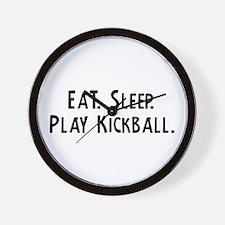 Eat, Sleep, Play Kickball Wall Clock