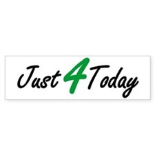JUST 4 TODAY 12 Step Recovery Bumper Car Sticker