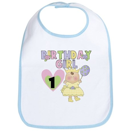 Yellow 1st Birthday Bib