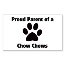 Proud: Chow Chows Rectangle Decal