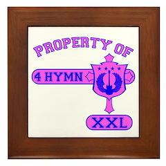 Property of 4 Hymn - Pink Framed Tile