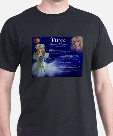 Goddess Virgo Black T-Shirt