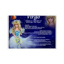 Goddess Virgo Rectangle Magnet