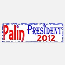 Palin 2012 Bumper Bumper Bumper Sticker