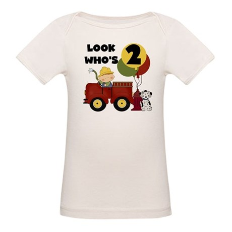 Fireman 2nd Birthday Organic Baby T-Shirt
