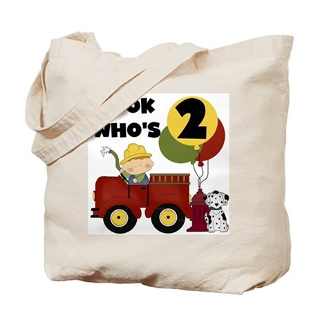 Fireman 2nd Birthday Tote Bag