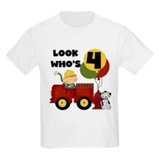 Fireman 4th Birthday T-Shirt