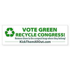 Recycle Congress Bumper Bumper Sticker