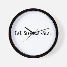 Eat, Sleep, Jai-Alai Wall Clock