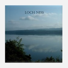 Loch Ness Scotland Tile Coaster
