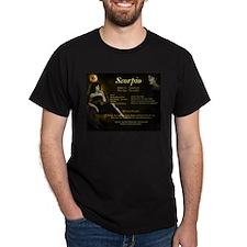Goddess Scorpio Black T-Shirt