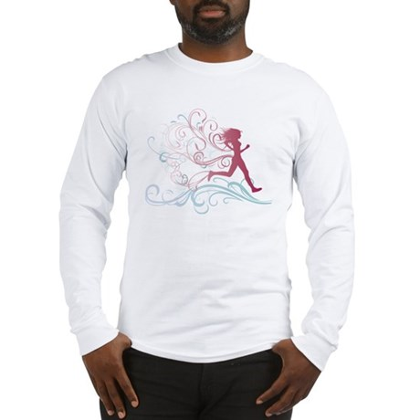 Running Girl Long Sleeve T-Shirt