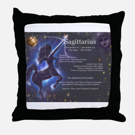 Goddess Sagittarius Throw Pillow