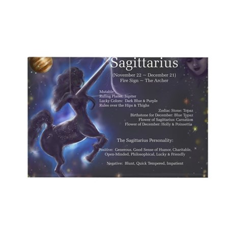 Goddess Sagittarius Rectangle Magnet