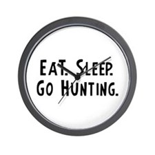 Eat, Sleep, Go Hunting Wall Clock
