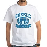 Greek tshirt Mens White T-shirts