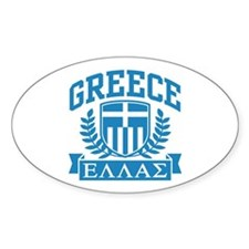 Greece Oval Decal