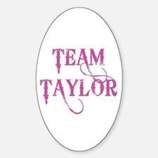 TEAM TAYLOR Oval Decal