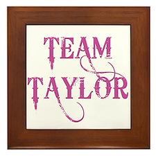 TEAM TAYLOR Framed Tile