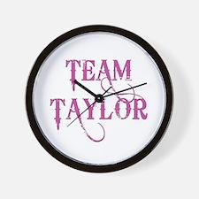 TEAM TAYLOR Wall Clock